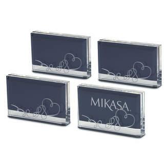 Mikasa 4 Piece Placecard Holder Photo Frame Set