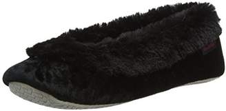 Isotoner Women's Crushed Velour Ballet Low-Top Slippers,39 EU
