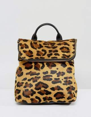 Whistles Leopard Mini Backpack