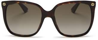 Gucci Square Sunglasses, 57mm