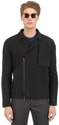 Boiled Wool Biker Jacket