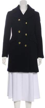 3.1 Phillip Lim Wool Double-Breasted Short Coat Navy Wool Double-Breasted Short Coat