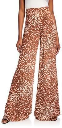 afa0371afa Alexis Essa Wide-Leg Leopard-Print Pants