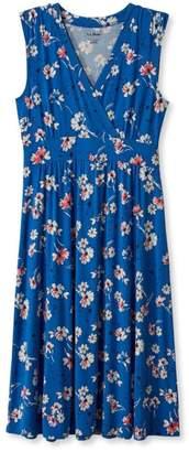 L.L. Bean L.L.Bean Summer Knit Dress, Sleeveless Multifloral