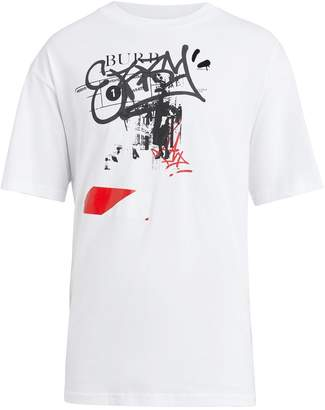 Burberry Graffiti Ticket print T-shirt