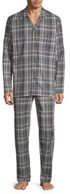 Hanro Loran Two-Piece Cotton Pajama Set