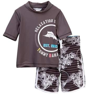 Tommy Bahama Hibiscus Rashguard Set (Toddler Boys)