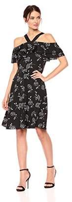Armani Exchange A|X Women's Floral Shoulder and Strap Dress