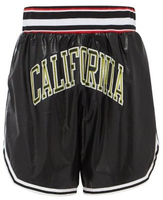 Faith Connexion California Faux Leather Basketball Shorts - Mens - Black