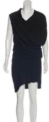Helmut Lang One-Shoulder Knee-Length Dress