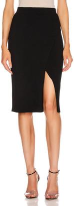 Jonathan Simkhai Deep Rib Wrap Skirt in Black | FWRD