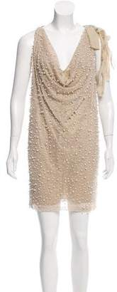 Robert Rodriguez Embellished Draped Dress