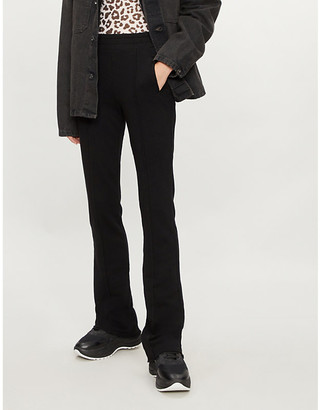 Cotton Citizen The Milan flared high-rise cotton-jersey jogging bottoms