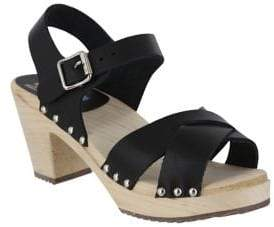 Mia Gertrude Leather Ankle-Strap Sandals