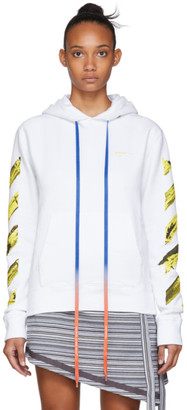 Off-White White Acrylic Arrows Hoodie