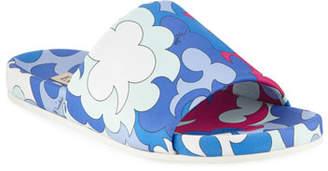 Emilio Pucci Jacquard Pool Slide Sandals