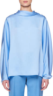 The Row Iona Long-Sleeve Silk Top