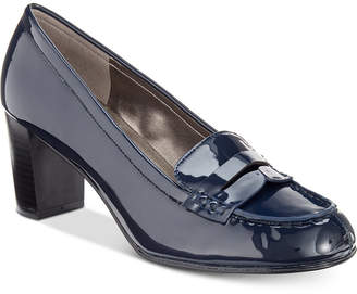Bandolino Arrie Block-Heel Loafer Pumps Women's Shoes