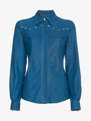 Skiim Leather shirt with studs