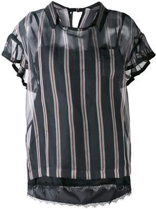 Sacai striped blouse