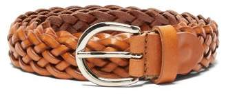 Giuliva Heritage Collection - The Braided Leather Belt - Womens - Tan