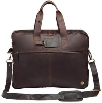 MAHI Leather - Classic Leather Holdall In Mahogany