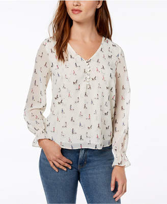 Maison Jules Printed Blouse, Created for Macy's