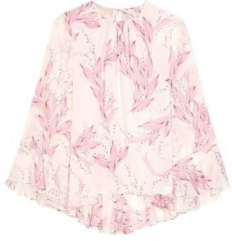 Giambattista Valli Printed silk top