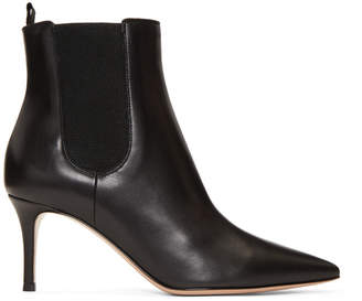 Gianvito Rossi Black Evan Ankle Boots