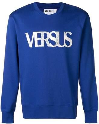 Versus metallic logo print sweatshirt