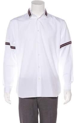 Christian Dior 2016 Grosgrain-Accented Button-Up Shirt