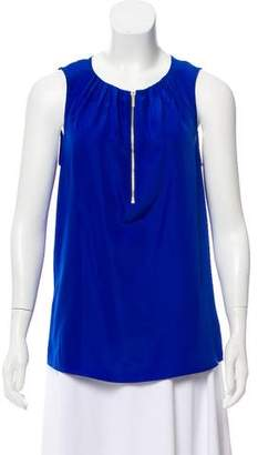 MICHAEL Michael Kors Sleeveless Zipper-Accented Top
