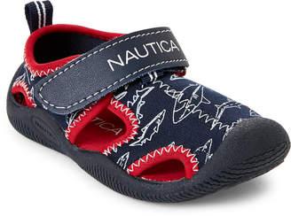 Nautica Toddler Boys) Navy & Red Kettle Gulf Shark Print Water Sandals