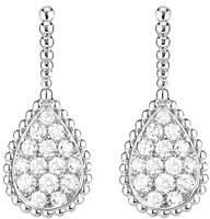 Boucheron Serpent Boheme 18k White Gold Diamond Teardrop Earrings