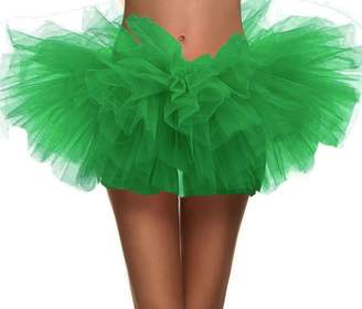 Simplicity Women's Dance Tutu Layered Organza Clubwear Mini Skirt Party Dress