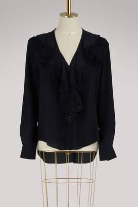 Chloé Silk shirt with lace ruffles