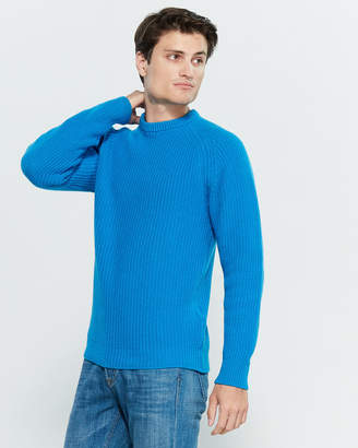 Gant Rib Knit Long Sleeve Sweater