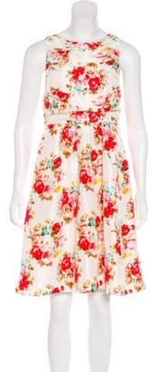 Alice + Olivia Printed Knee-Length Dress