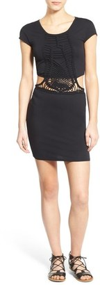 Volcom 'Suga Glider' Cutout Crochet Body-Con Dress $55 thestylecure.com