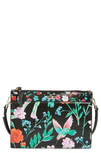 Kate Spade Kate Spade New York Cameron Street - Jardin Clarise Faux Leather Crossbody Bag - Black