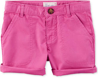 Carter's Cotton Twill Roll-Cuff Shorts, Toddler Girls