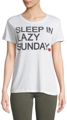 Chaser Sleep In Lazy Sunday Slogan Tee