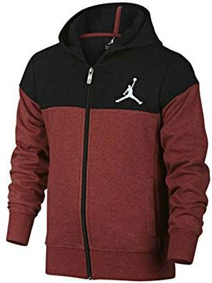 Nike Jordan Quilted hooded Sweatshirt Youth Red Black 953271 R79 (s)