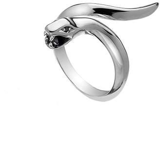 Hot Diamonds Veleno Black Ring- Size N