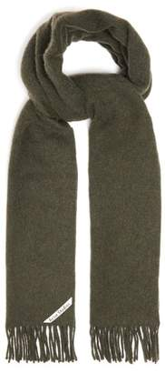 Acne Studios Canada Brushed Wool Scarf - Mens - Khaki