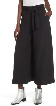 Women's Leith High Waist Crop Wide Leg Pants $69 thestylecure.com