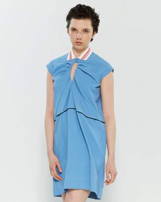 Carven Blue Collared Shift Dress