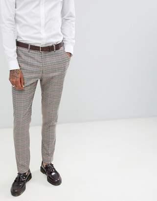 Gianni Feraud Slim Fit Heritage Check Wool Blend Suit Pants