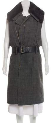 Marni Fur-Trimmed Wool Vest