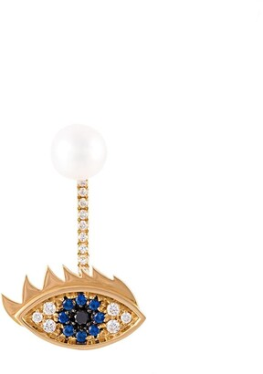 Delfina Delettrez Eyes on me piercing ダイヤモンド&サファイヤ ピアス